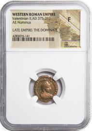 Roman AE3 of Valentinian II (AD375-392)NGC (F)