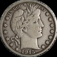 1892-1915 Barber Half Dollar - Circulated