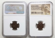 337-361 A.D. Bronze Roman Gladiator Coin NGC VF
