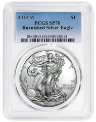 2019-W Burnished Silver Eagle PCGS SP70