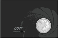 "2020-P Tuvalu ""James Bond 007"" 1 oz Silver Coin in Presentation Card"