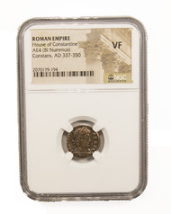 Roman AE of Constans (AD 221-350) NGC (VF)