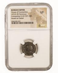 Roman AE of  Constantine II (AD 316-340) NGC (VF)