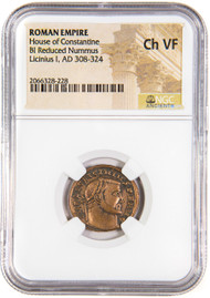 Roman AE of Licinius 1st (AD 308-324) NGC (VF)