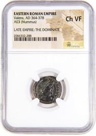 Roman AE of Valens (AD364-378) NGC (VF)