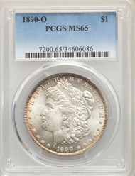 1890-S S$1 Morgan Dollar PCGS MS65 - 743797026