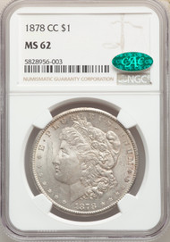 1878-CC S$1 Morgan Dollar NGC MS62 CAC