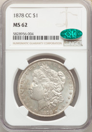1878-CC S$1 Morgan Dollar NGC MS62 CAC - 743371016