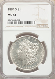 1884-s - S$1 - Morgan Dollars - Ngc - 61
