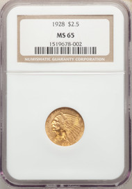 1928 $2.5 Gold Indian NGC MS65 - 298332001