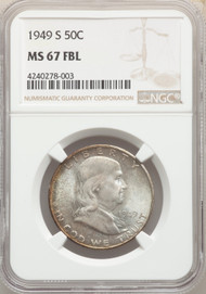 1949-S 50c Franklin Half Dollar NGC MS67FBL