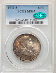 1949-S 50c Franklin Half Dollar PCGS MS67 CAC