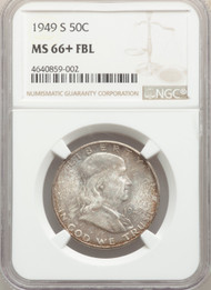 1949-S 50c Franklin Half Dollar NGC MS66+FBL