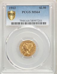 1912 $2.5 Gold Indian PCGS MS64 - 907354082