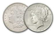Morgan and Peace Dollar Brilliant Uncirculated - Changing Designs (2-Coin Set)