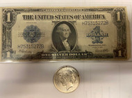 "1923 Peace Dollar and ""Horseblanket Note"" - The Last Large Note"