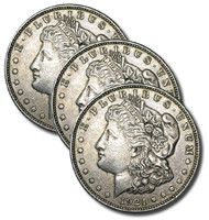 1921 PDS Morgan Dollar 3pc Set - Last Year of Issue