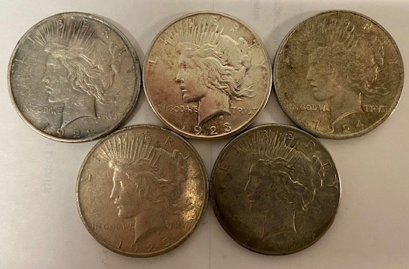 AMAZING! 1922-1926 PEACE SILVER DOLLAR BRILLIANT UNCIRCULATED 90/% COIN