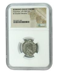 Roman Silver Antoninianus of Postumus (AD260-269) NGC (Medium grade)