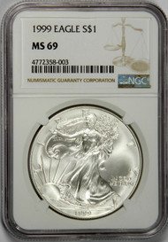 1999 Silver Eagle NGC MS69 - Key Date