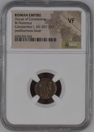 Bronze Roman Constantine I Manus Dei (AD 337-340) NGC VF - The Hand of God