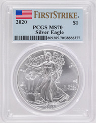 2020 Silver Eagle PCGS MS70 First Strike