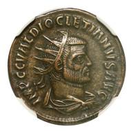 Roman AE Antoninianus of Diocletian (AD284-305) NGC (XF)