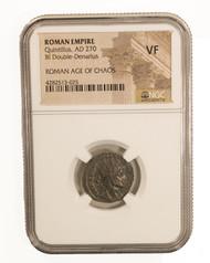 Roman AE Antoninianus of Quintillus (AD270) NGC (VF)