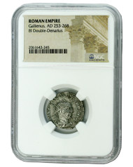 Roman Silver Antoninianus of Gallienus (AD 253-268) NGC (Medium grade)