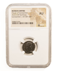 Roman AE of  Constantine I, the Great (AD 272-337) NGC (AU)