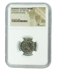 Roman Silver Antoninianus of Postumus (AD260-269) NGC (High grade)