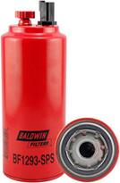 Baldwin BF1293-SPS FWS Spin-on with Drain, Sensor Port and Reusable Sensor