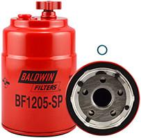 Baldwin BF1205-SP Pri. FWS Spin-on with Drain, Sensor Port