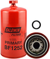 Baldwin BF1252 Pri. Fuel/Water Seperator Spin-on with Drain
