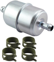 Baldwin BF836-K4 In-Line Fuel Filter with Clamps