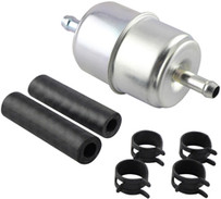 Baldwin BF840-K1 In-Line Fuel Filter with Clamps and Hoses