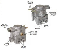 """Bendix K021558 SR-7 Spring Brake Modulating Valve, 3/8""""-16 Mounting Studs, 3/8"""" PTC Bal & Cntrl Port"""