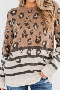 Animal Stripe Sweater Tunic