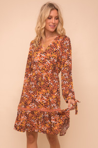 Floral & Leopard Print Dress