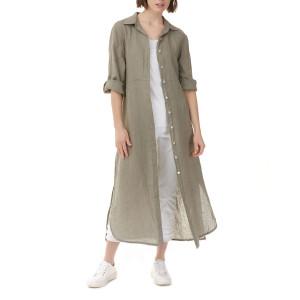 Charlie B Long Hunter Linen Duster/Dress