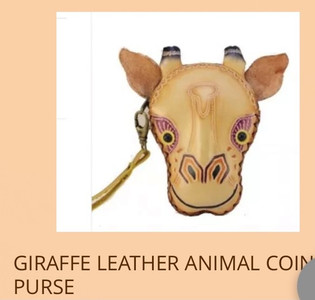 Leather Animal Coin Purse