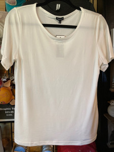"""Ivory Crew Neck """"Butter"""" Tee"""