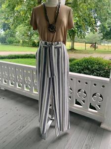Navy/White Striped Pant