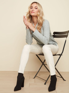 Charlie B Pull On Stretch Pant-Natural