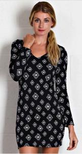 Diamond Pattern V-neck Dress