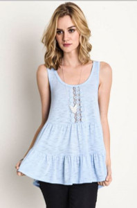 Ruffled Lace Tank