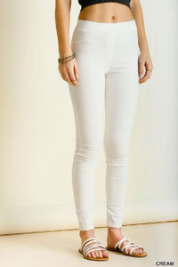 Cream Leggings