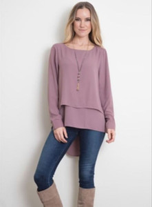 Chiffon Blouse (S/M Raisin)