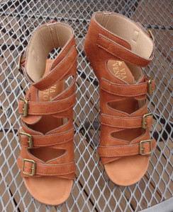 Golden Tan Buckle Sandal