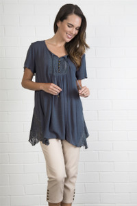 Lace Inset Boho Top